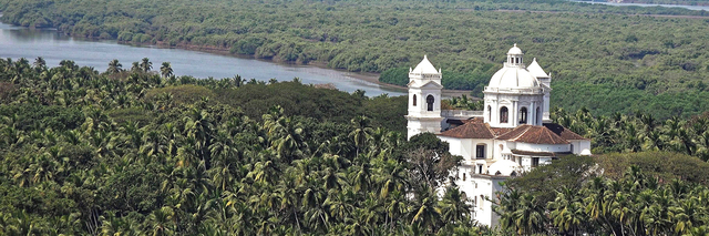Goa event old goa church aerial