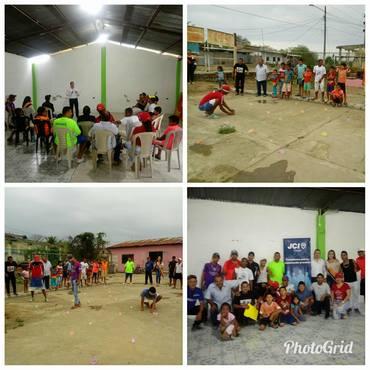 3. socializacion e interaccion de nuestro proyecto sana convivencia con miembros del barrio 30 de marzo