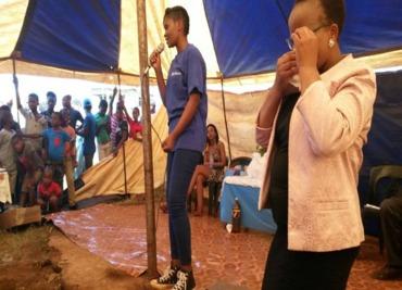 Vice president  development   nokwanda zulu and jci durban member zamekile mkhize