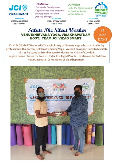 Salute the silent worker on 21 june 2020 international yoga day to yoga master