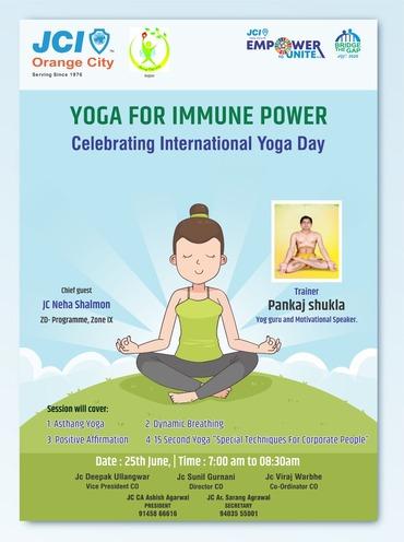 Flyer of yoga for immune power