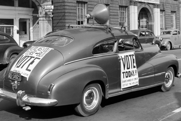 1926 get out the vote car